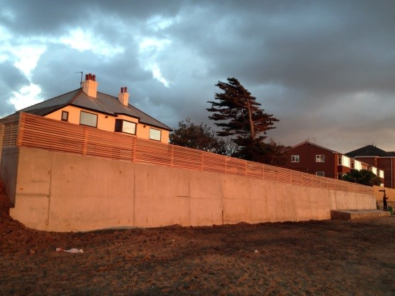 Reconstruction of damaged Sea Wall, West Kirby